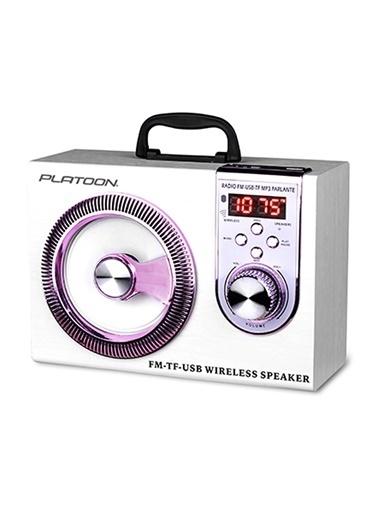 Platoon PL-4337 Bluetooth Speaker Fm/Sd/Usb Beyaz